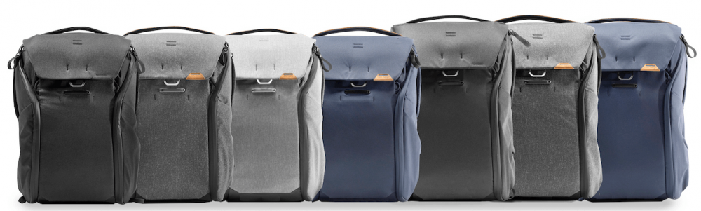Peak Design Backpack Fronts All sizes and colours